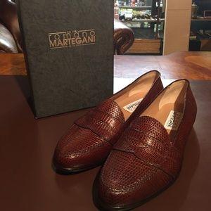 1f89e9896c9 Romano Martegani Shoes - Romano Martegani Brown Lizard Loafers Size 11D